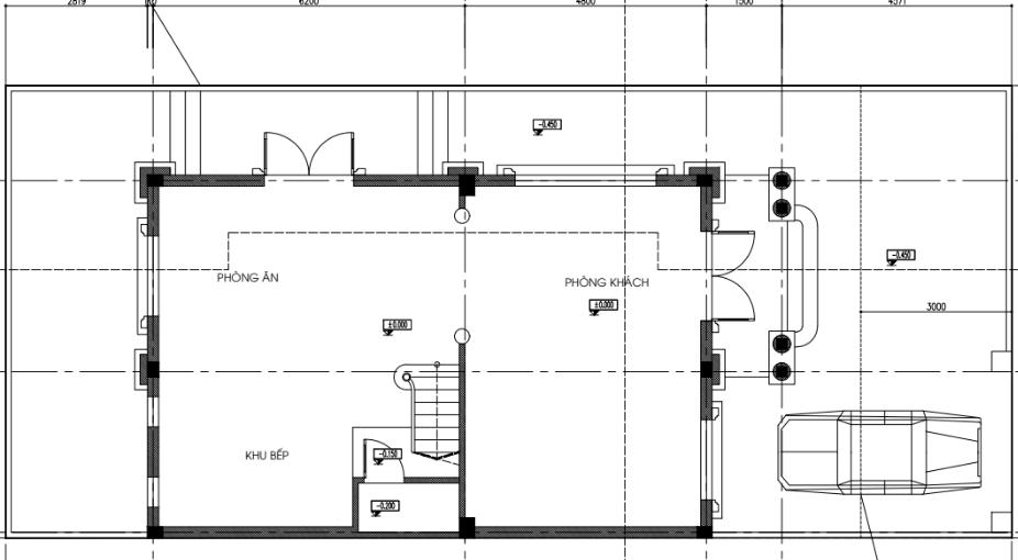 Mặt bằng thiết kế tầng 1 biệt thự song lập dự án seoul Ecohome
