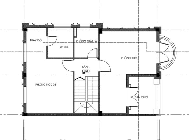 Mặt bằng thiết kế tầng 3 biệt thự song lập dự án seoul Ecohome