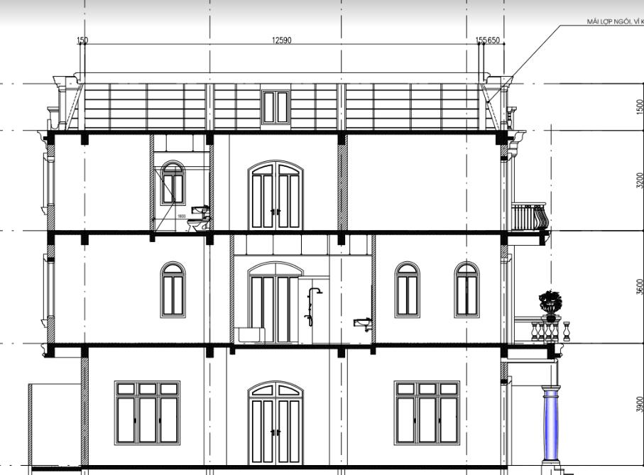 Mặt bằng thiết kế biệt thự song lập dự án seoul Ecohome
