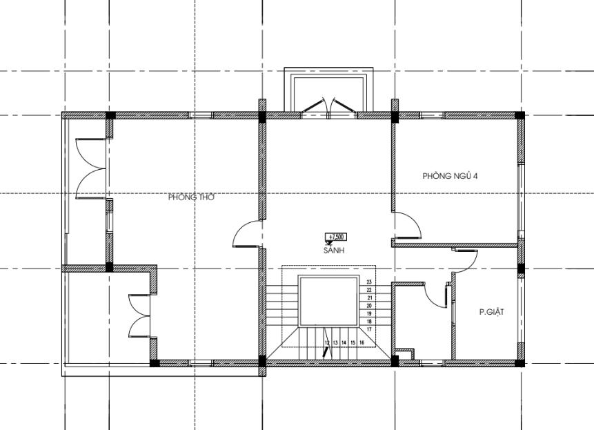 Mặt bằng thiết kế tầng 3 Biệt thự đơn lập dự án Seoul Eco Home